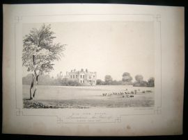 Twycross Lancashire 1846 Antique Print. Hill Side House
